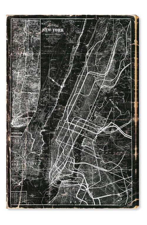 New York Subway Map Canvas Wall Art