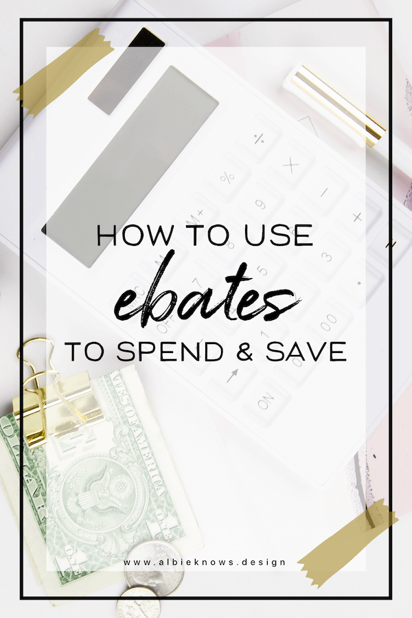 Albie Knows How To Use Ebates