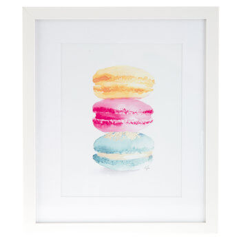 Stacked Macaron Framed Wall Decor