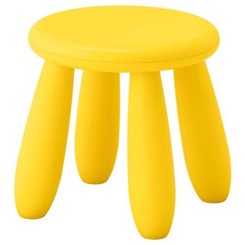 Mammut Children's Stool, Yellow