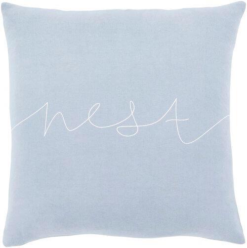 Motto WhiteBlack Transitional Pillow Cover Pillow Cover