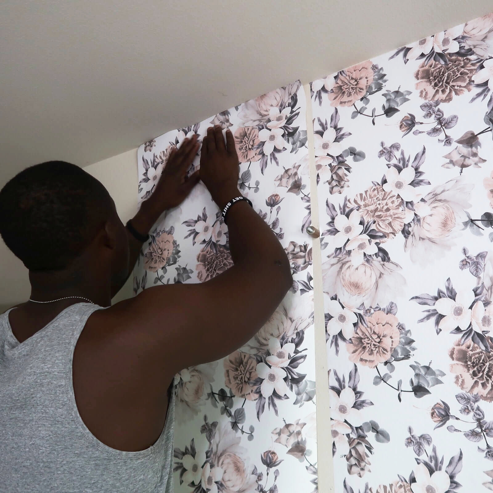 Albie Knows Renter Friendly Upgrade With Removable Wallpaper