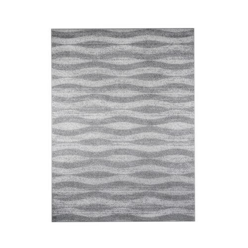 Porch & Den Williamsburg Hooper Geometric Waves Grey Rug (8'6 x 11'6) | Overstock