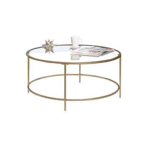 Lux Coffee Table - Clear Glass Top and Gold Finish | Amazon