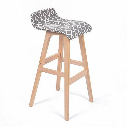 Stanton Lo-Back Contemporary Wood/Fabric Barstool - Moroccan Interlaced | Amazon
