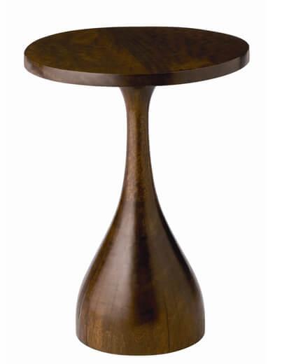 Paysli Accent Table, Dark Brown