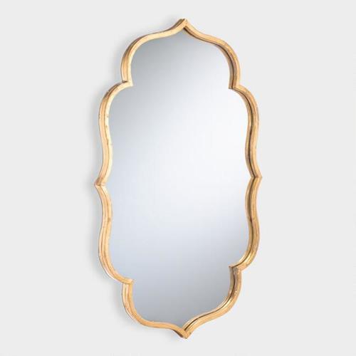 Gold Wavy Accent Mirror
