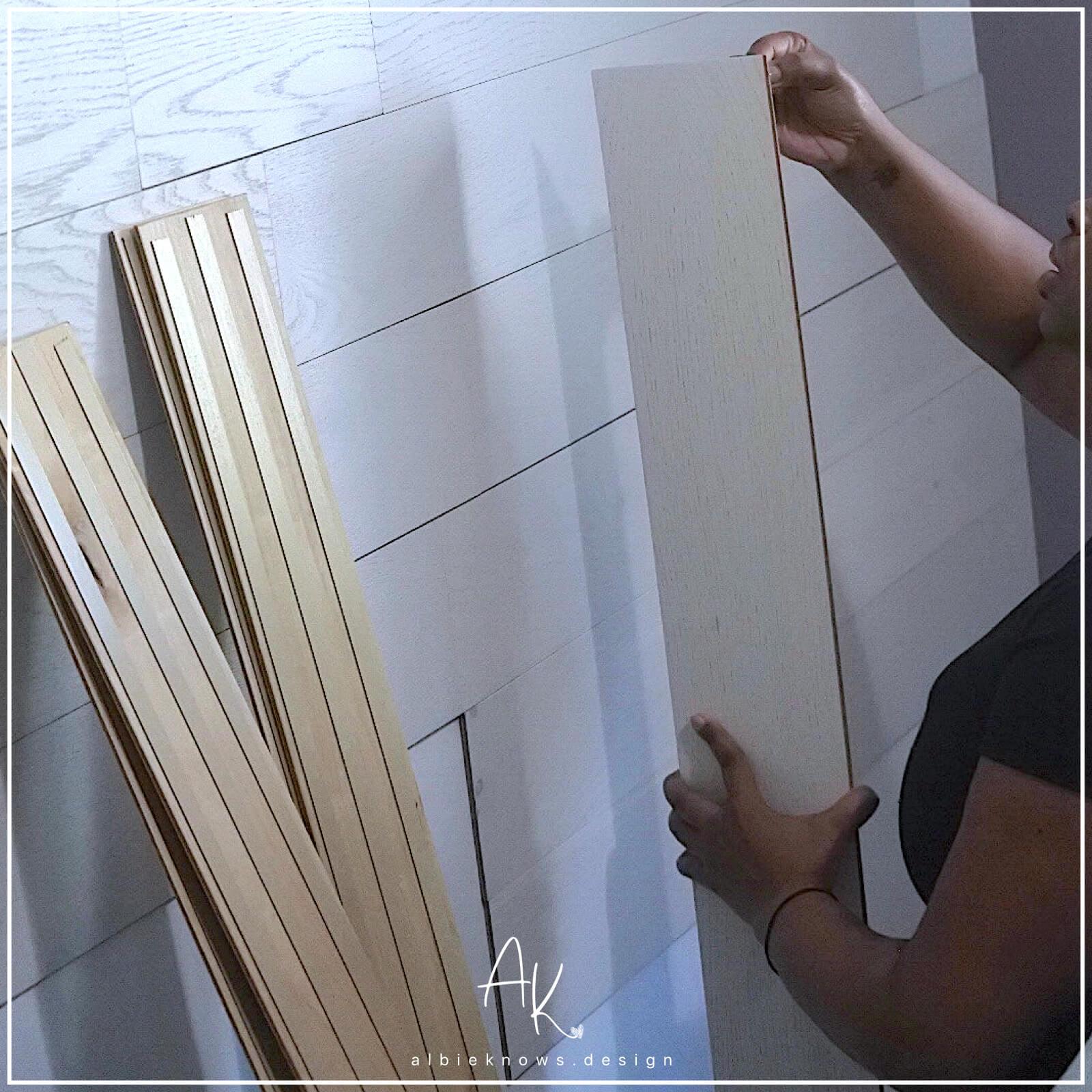 Albie Knows Wallplanks Installation