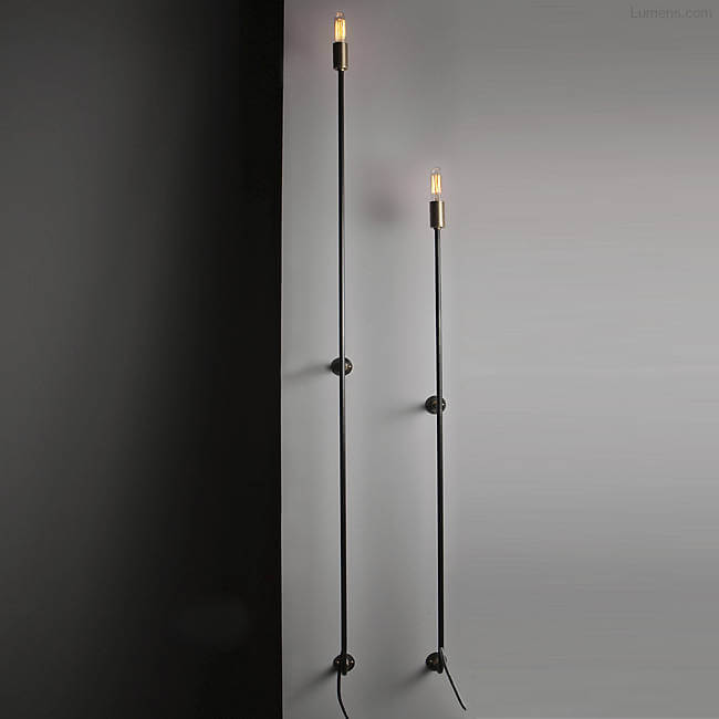 Stick Wall Sconce By John Beck for John Beck Steel