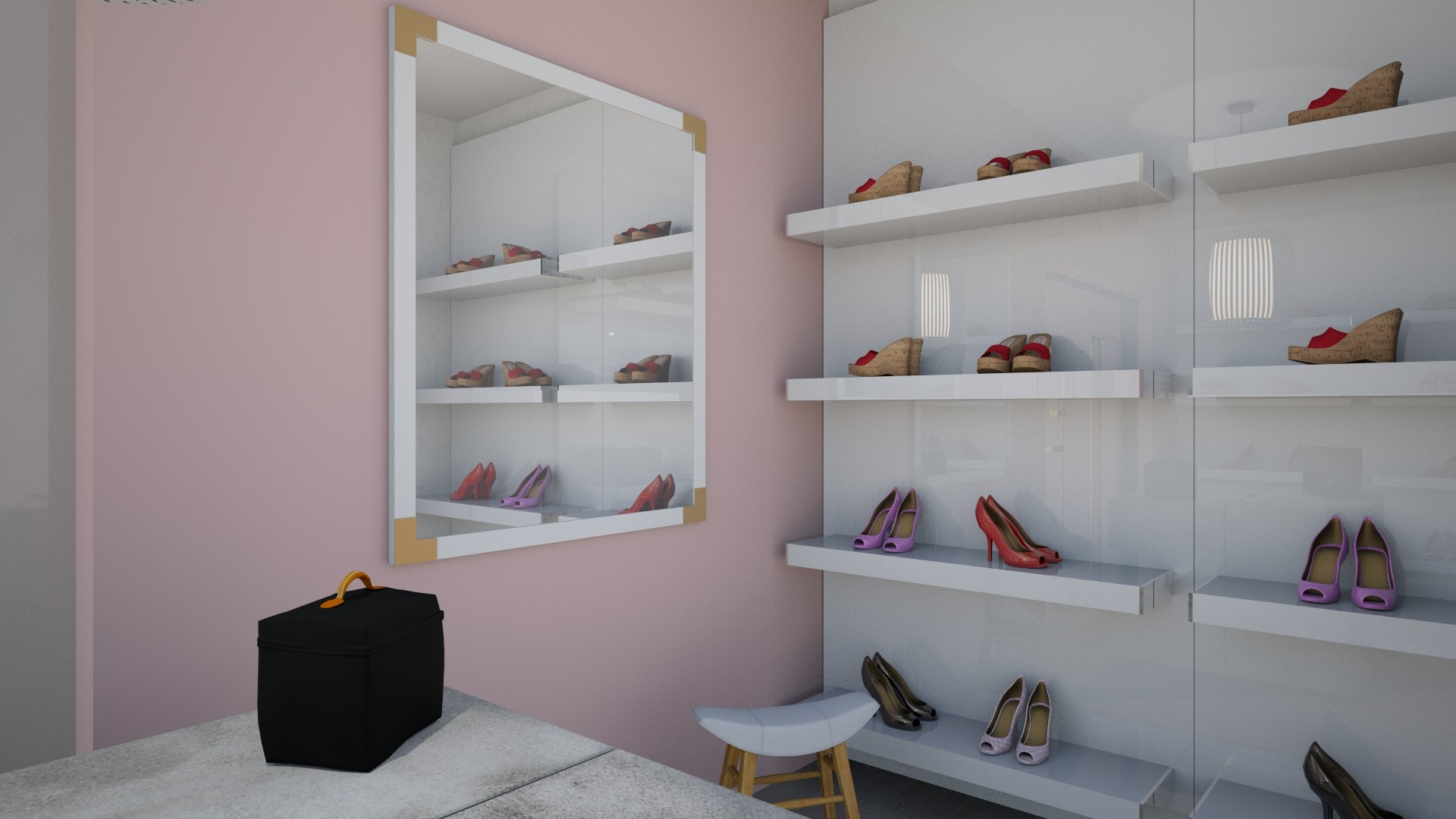 Casual Glam Dressing Room & Office by Albie Knows