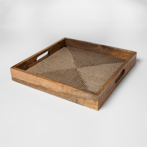 Wood and Jute Rope Tray | Target