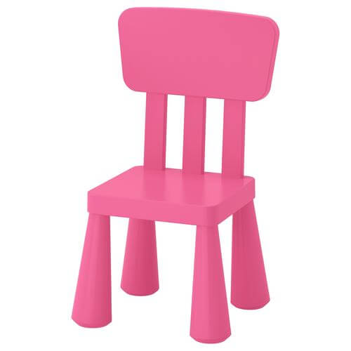 Mammut Children's Chair in Pink | IKEA