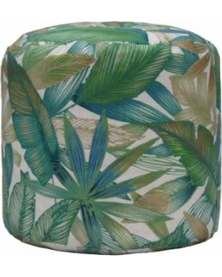 Tropical Motif Indoor/Outdoor Ottoman | Wayfair