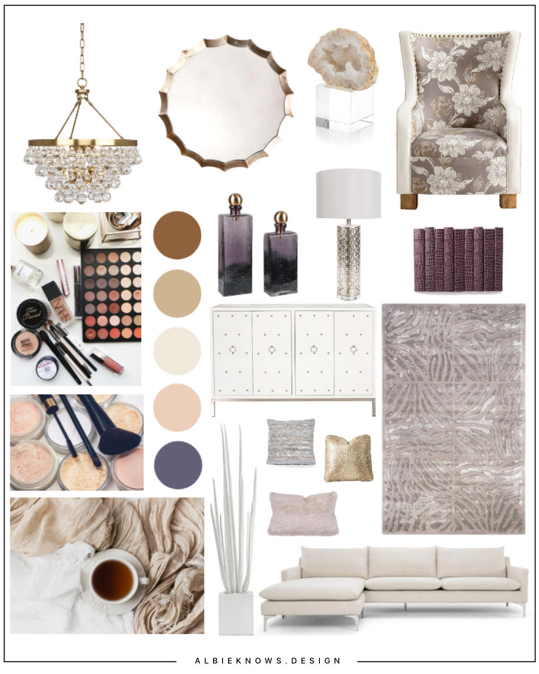 Everyday Hygge Glam Living - This design features a fusion of a Hygge-inspired aesthetic & elegant sophistication, creating a space that is equal parts comfort & glam.