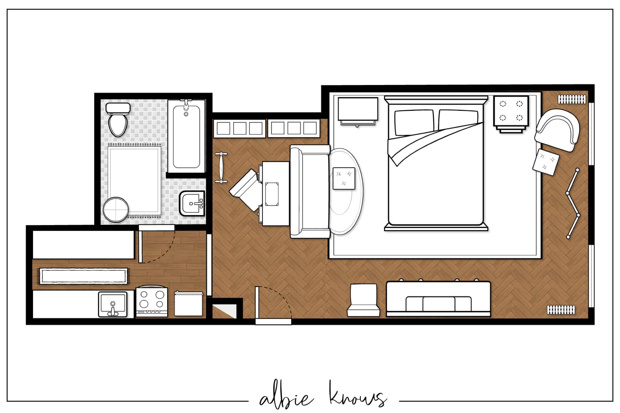Brooklyn , NY Studio Floor Plan