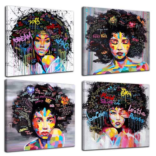 4 African American Canvas - Amazon