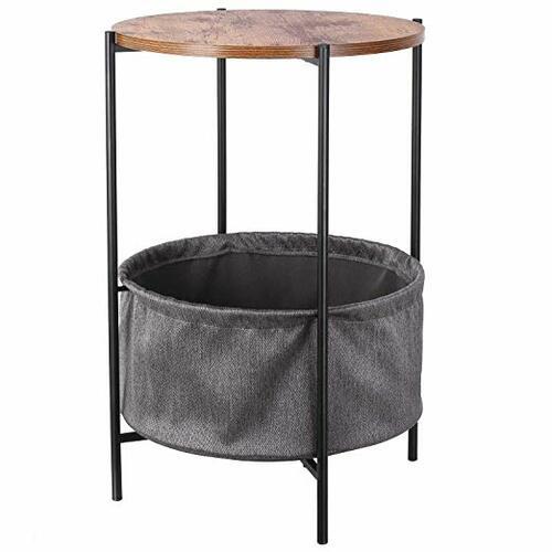 Side Table + Storage Basket - Amazon
