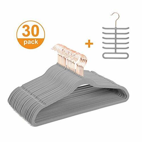 Velvet Hangers + Tie Rack - Amazon