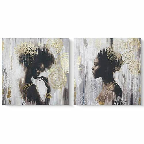 Golden Noir Canvas Set -