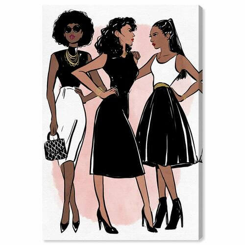 Little Black Dress Trio Canvas -