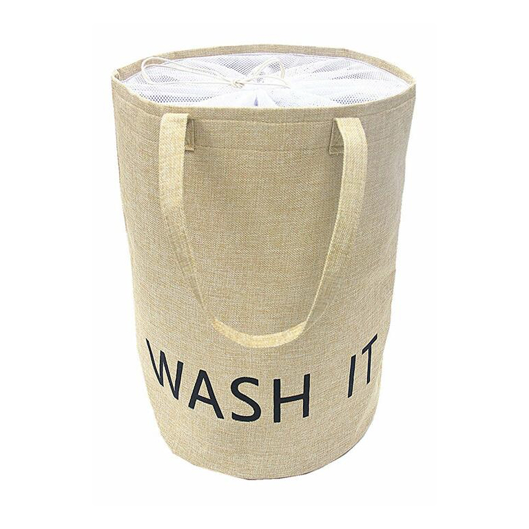 Natural Linen Laundry Basket - Amazon
