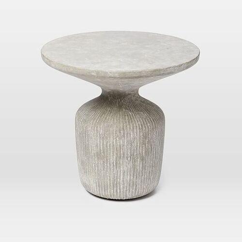 Tambor Concrete Outdoor Drum Side Table