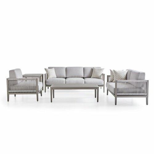 Rhiannon 5 Piece Sunbrella Sofa Set with Cushions