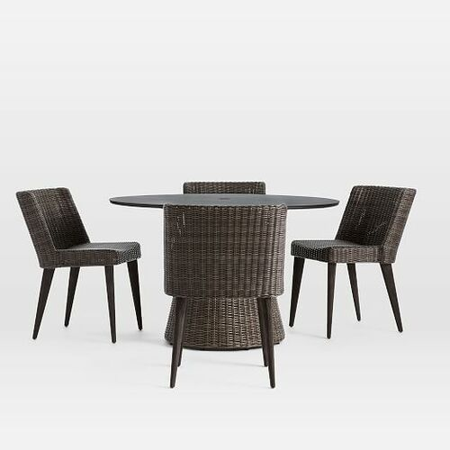 Marina Outdoor Round Dining Table + Chairs Set