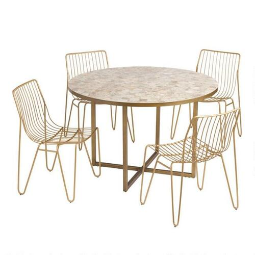 Round Marble Aviero Outdoor Dining Collection