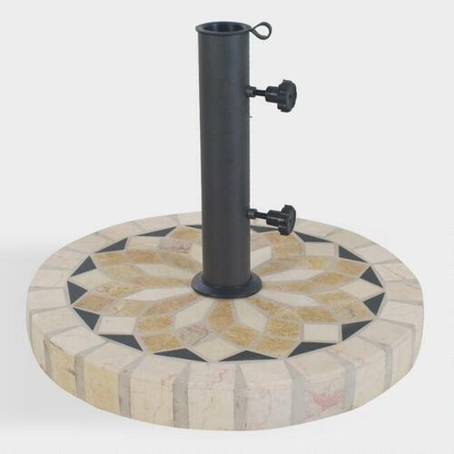Spanish Marble Mosaic Umbrella Stand