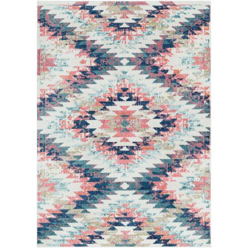 Multi Color Geometric Accent Rug