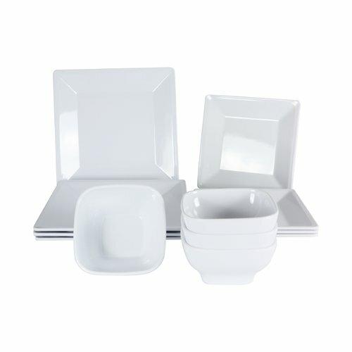 Merilyn Melamine 12 Piece Dinnerware Set, Service for 4