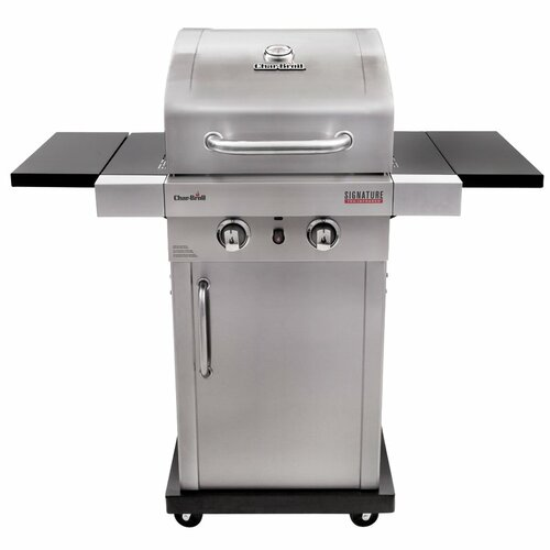 Signature™ TRU-InfraRed™ 2-Burner Propane Gas Grill with Cabinet