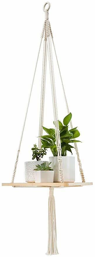 Macrame Plant Hanger Shelf
