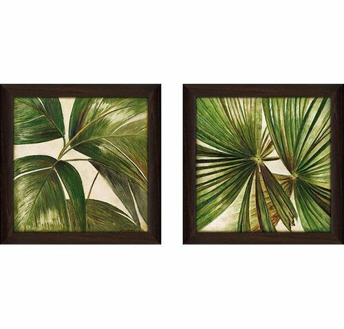 'Through the Leaves' 2 Piece Framed Acrylic Painting Print Set Under Glass