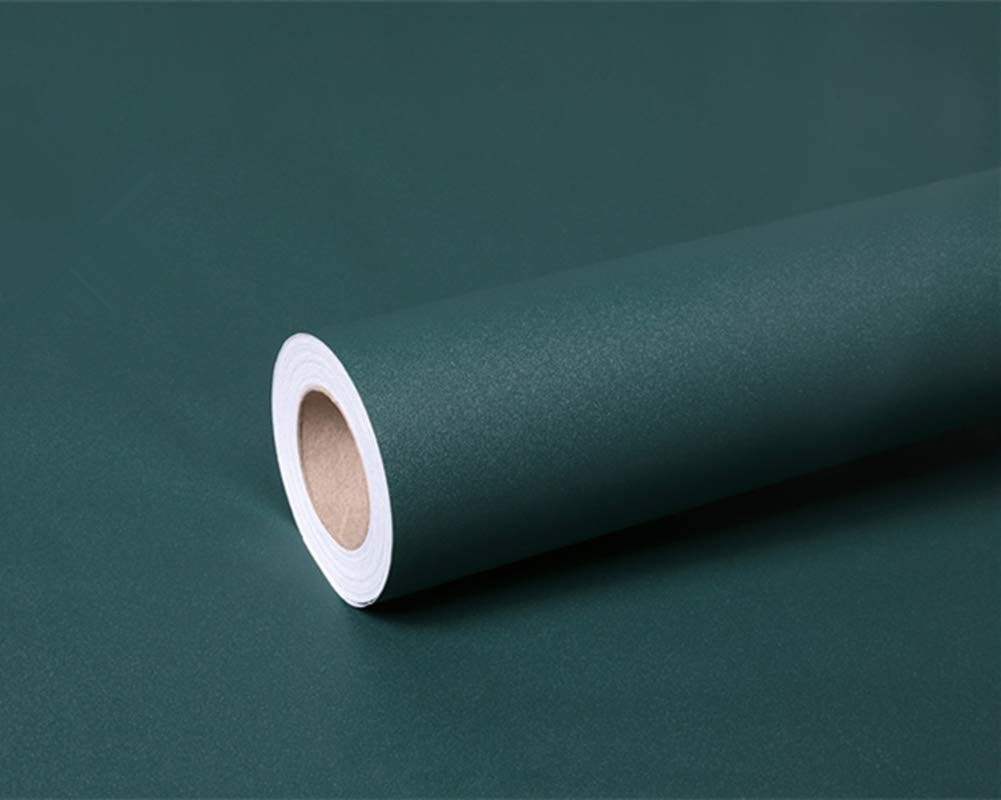 Frosted Dark Green Peel and Stick Wallpaper