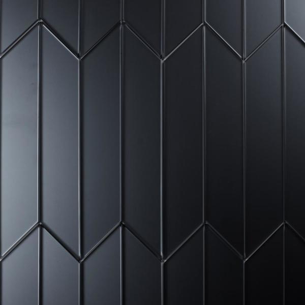 Diamond 4 in. x 12 in. Blue Gray Glass Mirror
