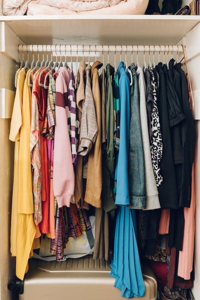 Albie Knows ROYGBIV Closet Organization