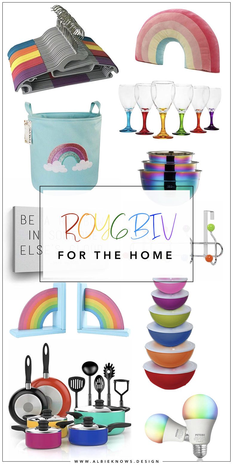 Albie Knows ROYGBIV Shopping For The Home