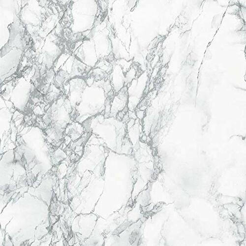 "Decorative Self-Adhesive Film, Grey Marble, 17"" x 78"" Roll 