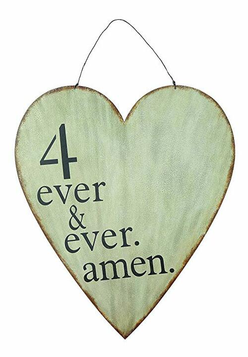 4 Ever & Ever Amen Metal Heart Wall Décor | Amazon