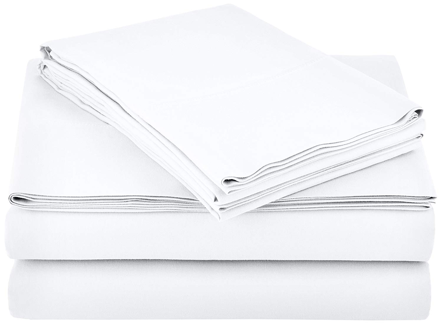 Microfiber Sheet Set - Queen, Bright White | Amazon