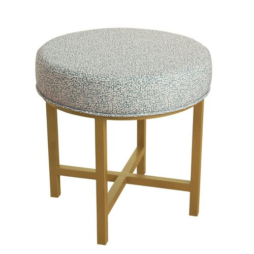 Round Metal Base Decorative Ottoman (similar model) | Amazon