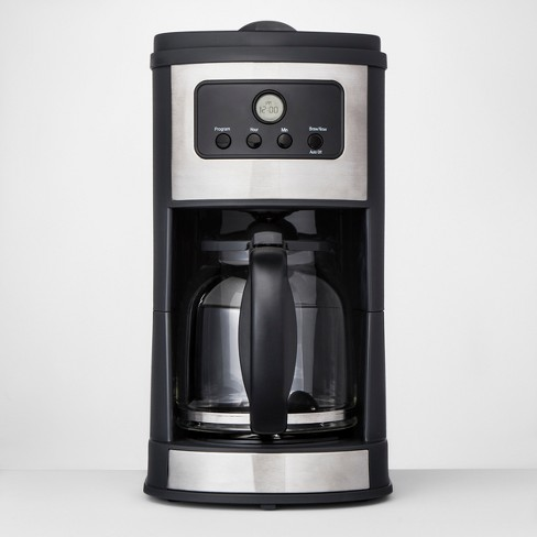 12 Cup Programmable Automatic Drip Silver Coffee Maker - Made By Design™ | Target