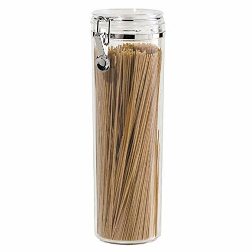 Acrylic Airtight Pasta Canister with Clamp | Amazon
