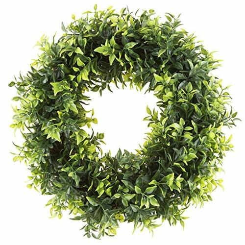 Artificial Opal Basil Leaf 11.5 inch Round Wreath | Amazon