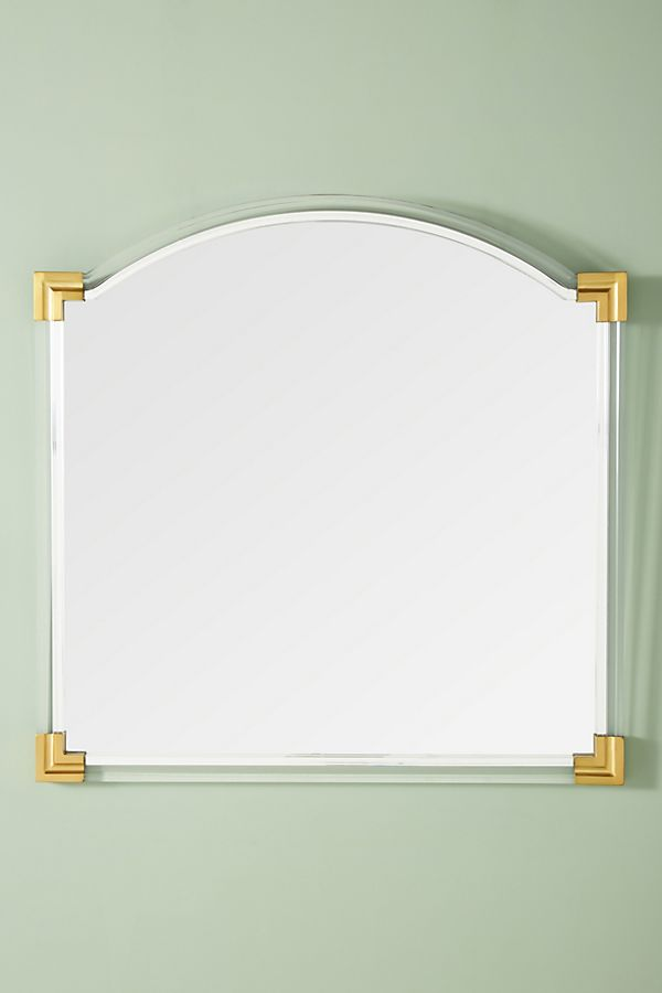 Brass-Capped Mirror - Sale: $559.95 (Reg: $798.00)