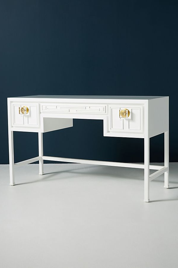 Lacquered Carre Desk - Sale: $1,149.95 (Reg: $1,498.00)