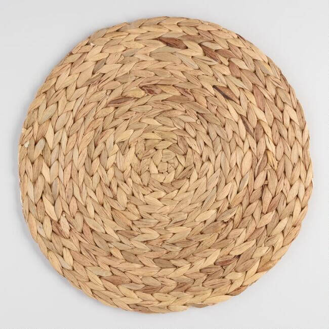 Natural Fiber Round Placemat Set Of 4