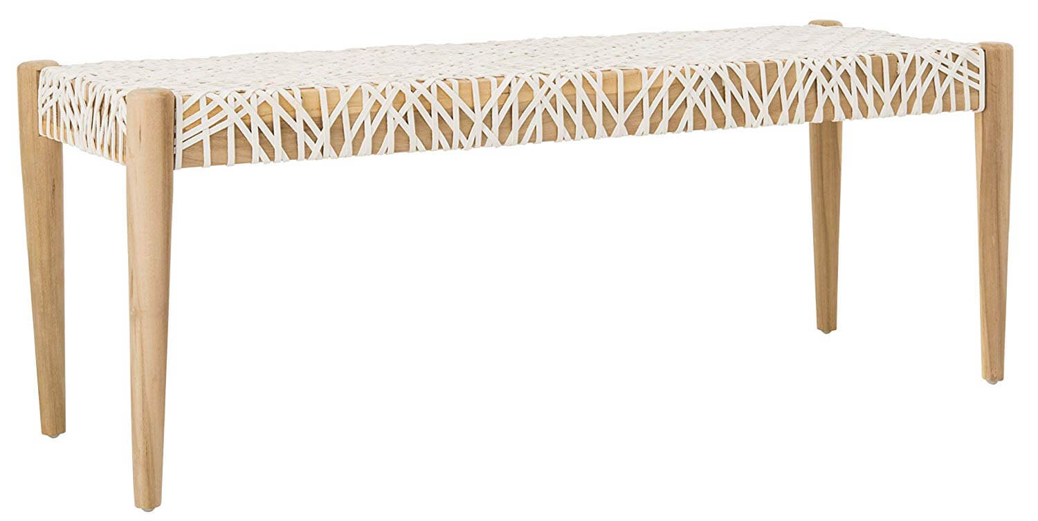 Bandelier Bench, Off- Off-White/Natural